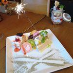 町屋個室×肉バル ジビエズマーケット - マタギの気まぐれドルチェはメッセージ入れも可!!お誕生日サプライズにもええんちゃう?