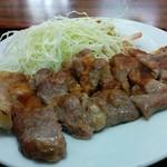 倉井ストアー - 料理写真:豚ステーキ定食(600円)