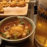 おかる - 明石焼きセット=明石焼き+生ビール(小)