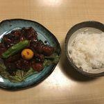 74199893 - 鳥もつ煮&ご飯