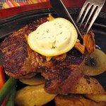 キャロット - 海老フライ3尾とステーキのセットステーキ