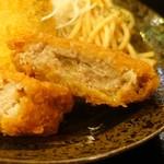 恵比寿和顔 - ランチメンチカツ肉汁たっぷり