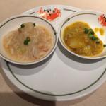 中国飯店 - 大ぶり海老と毛蟹 & 上海蟹のほぐし身ソース炒め