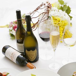 シャンパーニュはもちろん、世界のワインを豊富にご用意