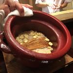 研覃 ほりべ - 穴子と蓮の実のご飯