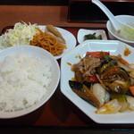 Kourien - 茄子と豚肉の甘辛炒め定食