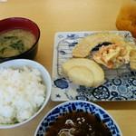 花もめん - 「えび天ぷら」の1回目の天ぷら