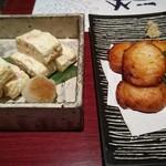 74214196 - 桜海老と向井さんの玉子のだし巻き玉子                       さつま揚げ