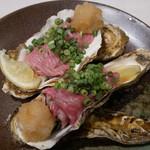 酒場わたなべ - 牡蠣、A5仙台牛巻