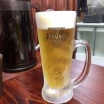 麺家 半蔵 - 生ビール中