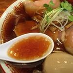 しば田 - 醤油の旨さ抜群のスープ