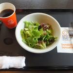 bondolfi boncaffē - ランチ:カフェアメリカーノ、サラダ