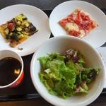 bondolfi boncaffē - ランチ:ローマスタイルのピッツァセット