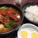 CoCo壱番屋 - タンドリー風チキンと野菜のカレー プラス ゆでタマゴ