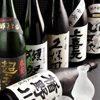 日本酒はざっと20種以上!