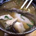 麺哲支店 麺野郎 - 肉つけ麺(つけ汁)