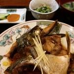 花のれん - 煮魚定食(この日は、あら炊きでした)