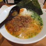 麺や七福 - 旨辛ひき肉投入後2017.10.04