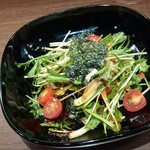 バルサバルサ - クレソンと水菜の生海苔サラダ