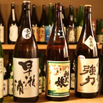 たかはし - 日本酒のラインナップが豊富です。