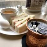 Cafeルノアール - アイスコーヒー&Cセット(710円)