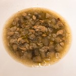 ビス トリス - 鶏と大麦とごぼうのミネストラ