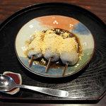 朝日屋 - 黒みつそばだんご(お昼の小膳のセット)