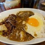 鉄板やきそば酒場 しぶやき - マーブル(黒+麻婆豆腐) 750円 + 大盛り 100円