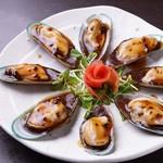 花火の宴 - ムール貝の黒豆ソース