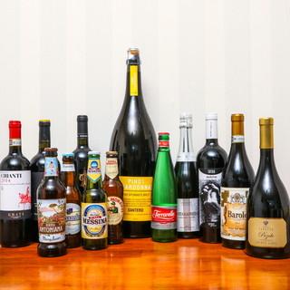イタリアンビール、イタリアワイン