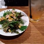 鎌倉パスタ - サラダとアイス柚子茶