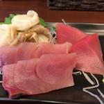 宝水産 - 定食の刺身三点