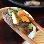源氏総本店 - 薬味    フライドニンニク、紅葉おろし、刻みネギ                  醤油のタレで頂きました。
