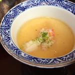 源氏総本店 - 蟹入り冷製茶碗蒸しです。