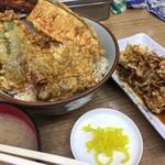豊野丼 - 鯨天丼 お味噌汁