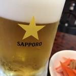 鳳凰楼 - サッポロ生ビールとお通し