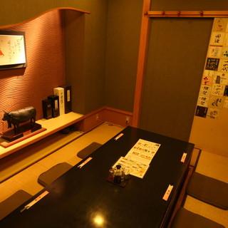 【個室完備】穏やかな照明が心地よいオシャレな空間