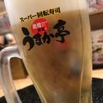 うまか亭 - プレミアムモルツ生ビール
