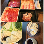 しゃぶ葉 - 料理写真:イベリコ豚&牛コース 2159円