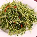 中華料理 大黒 - 豆苗炒め