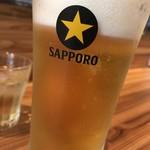 そば屋 かもん - 生ビール