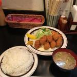 キッチンABC - 特盛カキフライ定食('17/10/05)