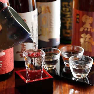 全国各地から珠玉の日本酒を用意