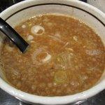 麺商つけ麺 志堂 - 「つけ麺 大盛り440g(\780)」のスープアップ。