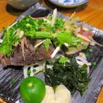 藁焼きと四国料理88屋 - 鰹の藁焼き
