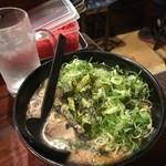 あすの澪 - 魚介とんこつラーメン750円  トッピングねぎ大盛り50円