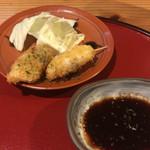 魚旬 うさぎ家 - 鯛と鯵の一口フライ
