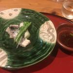 魚旬 うさぎ家 - 鰆のちり鍋ならねちり皿