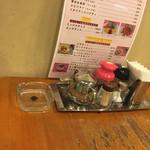 サザンクロス - テーブル上の備品