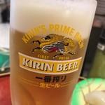 回転寿司 鮨市 - 生ビール(中)
